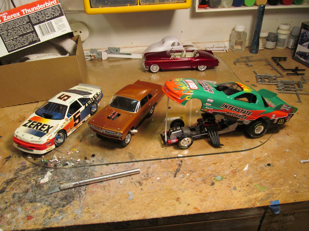 Feb pre meeting car show on my bench!